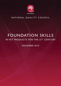 Foun dation Skills in VET products