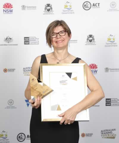 Lidia Lipkiewicz, winner of the 2018 Excellence in Language, Literacy and Numeracy Practice Award
