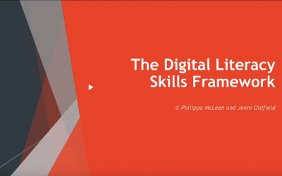 New Digital Literacy Skills Framework – webinar with the writers recording