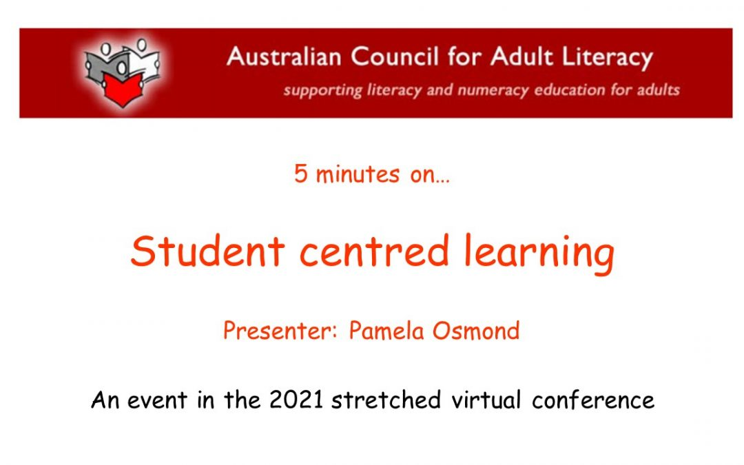 Student centred-learning with Pamela Osmond